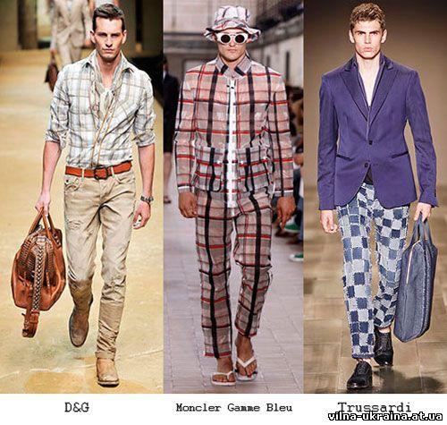 Мужская мода 2010 - клетка и полоска.